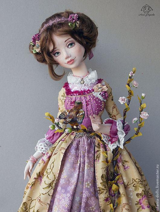 Коллекционные куклы ручной работы. Ярмарка Мастеров - ручная работа. Купить Алиса. Handmade. Брусничный, подарок, мохеровый тресс