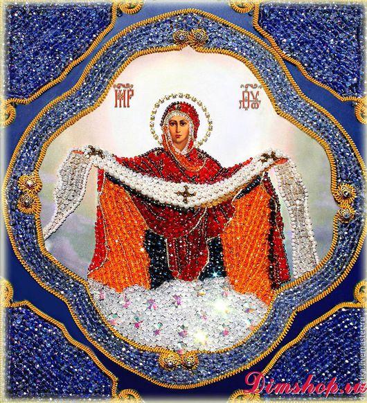 Набор `Образа в каменьях` икона Покрова Пресвятой Богородицы