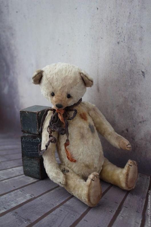 Мишки Тедди ручной работы. Ярмарка Мастеров - ручная работа. Купить Сердце моё - Сердечкин. Handmade. Бежевый, винтажный стиль