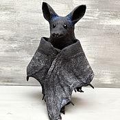 Кукольный театр ручной работы. Ярмарка Мастеров - ручная работа Перчаточная игрушка: Летучая мышь. Handmade.