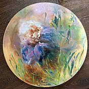 Картины и панно handmade. Livemaster - original item Pictures: Abstract Flower Iris Oil painting. Handmade.