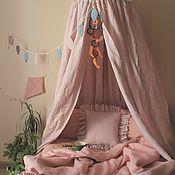 Бортики в кроватку ручной работы. Ярмарка Мастеров - ручная работа Льняной шатер Пудра, балдахин, цвет в ассортименте. Handmade.