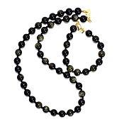 Украшения handmade. Livemaster - original item Choker / necklace and bracelet Golden obsidian. Handmade.