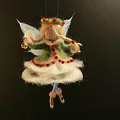Куклы и игрушки handmade. Livemaster - original item Needle felted angel with bell. Handmade.