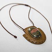 Украшения handmade. Livemaster - original item Pendant with unakite. Handmade.