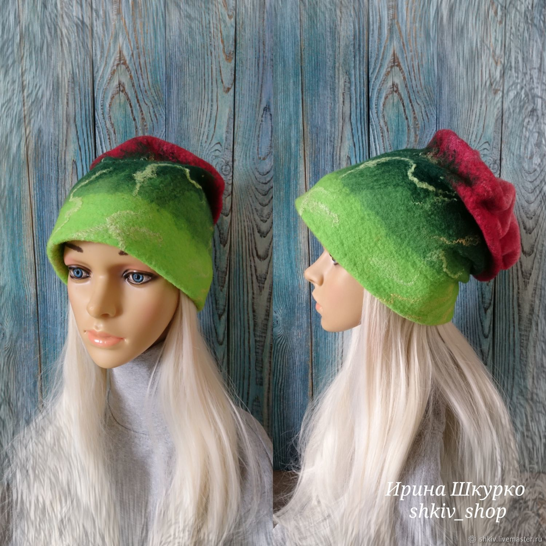Felted hat ' rose', Caps, Solnechnogorsk,  Фото №1