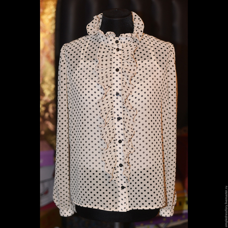 Блузка белый шифон купить