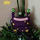Текстиль, ковры ручной работы. Ярмарка Мастеров - ручная работа. Купить Подушка на спинку стула Лягушка-инопланетянка. Handmade.