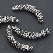 Материалы для творчества ручной работы. Ярмарка Мастеров - ручная работа Трубочка шелкопряд sPP231, серебро с чернением. Handmade.