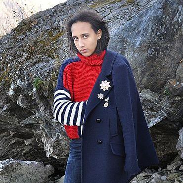 """Одежда ручной работы. Ярмарка Мастеров - ручная работа Пуловер в морском стиле """"Марин"""". Handmade."""