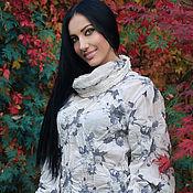 """Одежда ручной работы. Ярмарка Мастеров - ручная работа Стильная и элегантная блузка """"Облака"""" из тонкой шерсти. Handmade."""