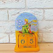 Канцелярские товары handmade. Livemaster - original item Perpetual calendar the LITTLE PRINCE. Handmade.