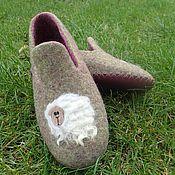 Обувь ручной работы. Ярмарка Мастеров - ручная работа Тапочки валяные Cute sheeps. Handmade.
