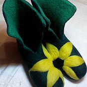 """Обувь ручной работы. Ярмарка Мастеров - ручная работа Домашние валеночки """"Подсолнухии"""". Handmade."""