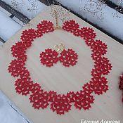 """Украшения ручной работы. Ярмарка Мастеров - ручная работа Комплект украшений """"Lady in red"""". Handmade."""