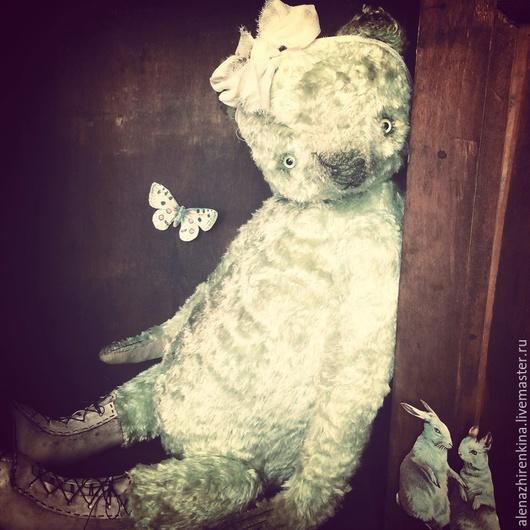 Мишки Тедди ручной работы. Ярмарка Мастеров - ручная работа. Купить Английская роза. Handmade. Мятный, розы, кожа