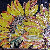 """Картины и панно ручной работы. Ярмарка Мастеров - ручная работа Панно """"Подсолнухи"""" мозаика. Handmade."""