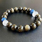 Украшения handmade. Livemaster - original item Amulet bracelet Purpose: Obsidian, Kyanite, Quartz. Handmade.