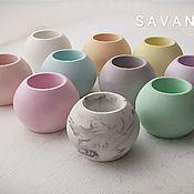 Цветы и флористика handmade. Livemaster - original item Concrete planters-candle holder