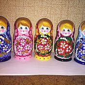 Русский стиль ручной работы. Ярмарка Мастеров - ручная работа Матрешка 5в1 с Ландышами. Handmade.