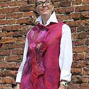 """Одежда ручной работы. Ярмарка Мастеров - ручная работа жилет """"Пион"""". Handmade."""