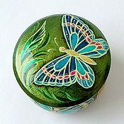 """Для дома и интерьера ручной работы. Ярмарка Мастеров - ручная работа Шкатулка """"Бабочки"""". Handmade."""