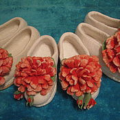 Обувь ручной работы. Ярмарка Мастеров - ручная работа Тапочки. Handmade.