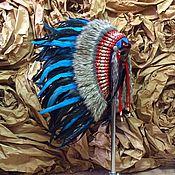 Одежда ручной работы. Ярмарка Мастеров - ручная работа Индейский головной убор - Управляющий Реками. Handmade.