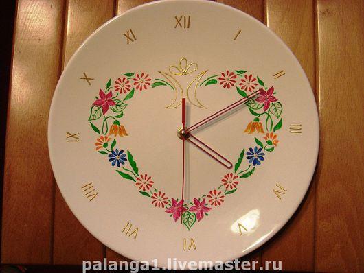 Часы для дома ручной работы. Ярмарка Мастеров - ручная работа. Купить Настенные часы «ЛЕТНИЙ СОНЕТ». Handmade. Часы настенные