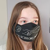 Аксессуары handmade. Livemaster - original item Mask with embroidery Stone Scissors Paper. Handmade.