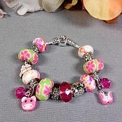 """Браслеты ручной работы. Ярмарка Мастеров - ручная работа """"Маргаритки""""- браслет для девочки. Handmade."""