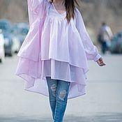 Одежда handmade. Livemaster - original item Loose blouse for summer - TU0425CT. Handmade.