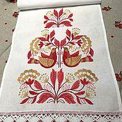 Русский стиль handmade. Livemaster - original item Towel embroidered