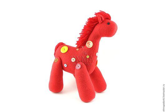 Игрушки животные, ручной работы. Ярмарка Мастеров - ручная работа. Купить Жеребенок Денни. Handmade. Коралловый, игрушка, сувенир