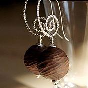 """Украшения ручной работы. Ярмарка Мастеров - ручная работа """"Кофейное пралине"""" серьги из керамики. Handmade."""