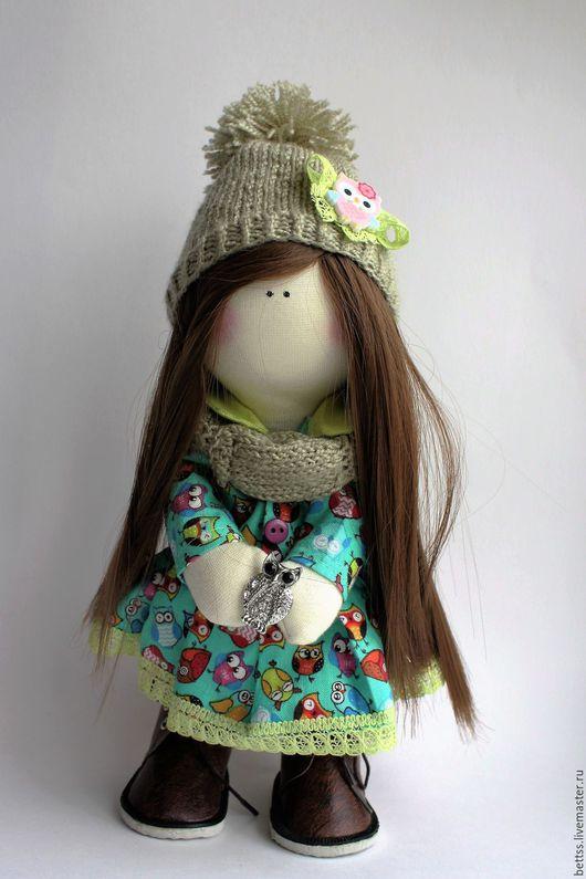 """Куклы тыквоголовки ручной работы. Ярмарка Мастеров - ручная работа. Купить """"Эльза"""" кукла текстильная интерьерная тыквоголовка. Handmade. Зеленый"""