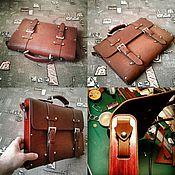 Портфель ручной работы. Ярмарка Мастеров - ручная работа Портфель из кожи быка с деревянными вставками из ясеня. Handmade.