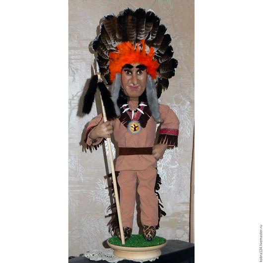 """Коллекционные куклы ручной работы. Ярмарка Мастеров - ручная работа. Купить Кукла интерьерная """"Вождь краснокожих"""". Handmade. Комбинированный"""