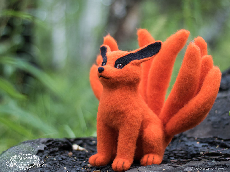 Nine-tailed Fox ( Nine-tail demon fox Kurama ), Stuffed Toys, Chelyabinsk,  Фото №1