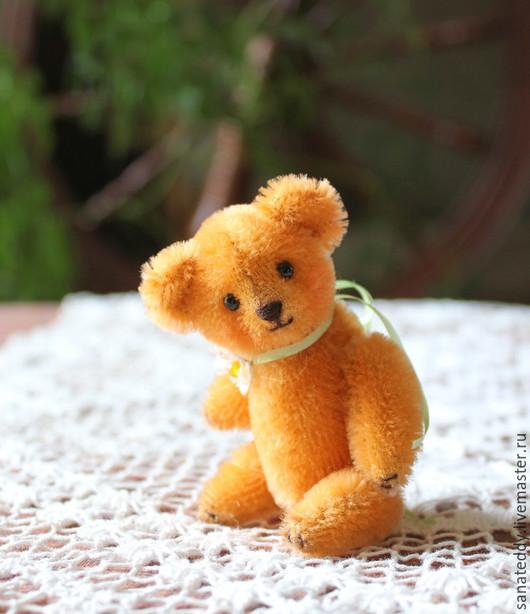 Мишки Тедди ручной работы. Ярмарка Мастеров - ручная работа. Купить Авторский миниатюрный мишка Персик. Handmade. Коллекционная игрушка