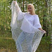 Аксессуары handmade. Livemaster - original item Wraps: Openwork white stole shawl down. Handmade.