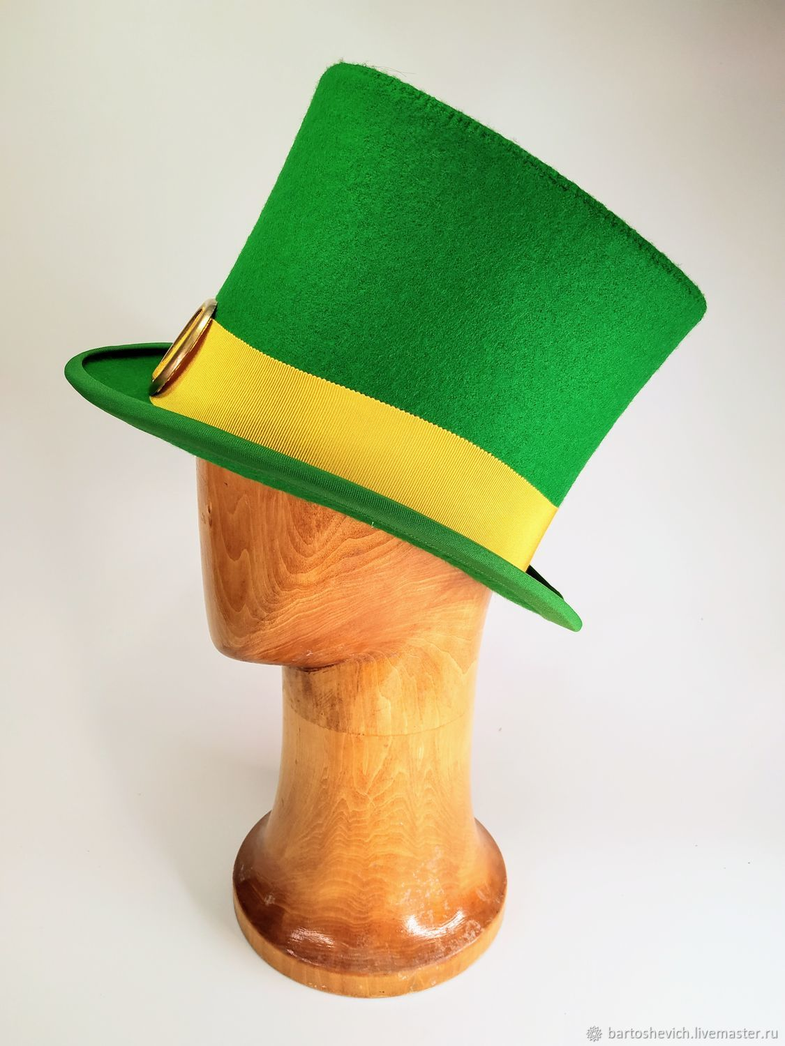 The green cylinder 'Leprechaun', Subculture hats, St. Petersburg,  Фото №1