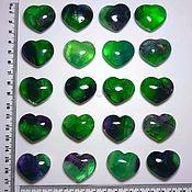 Материалы для творчества handmade. Livemaster - original item Rainbow fluorite (hearts 30/25 mm) Shangzhao, Jiangxi Province (China). Handmade.