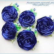 """Украшения ручной работы. Ярмарка Мастеров - ручная работа Брошь """"Синяя роза"""". Handmade."""