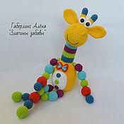 Куклы и игрушки handmade. Livemaster - original item The giraffe Is knitted with hand-beads and rattle. Handmade.