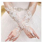 Свадебный салон ручной работы. Ярмарка Мастеров - ручная работа Кружевные перчатки кружево. Handmade.
