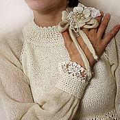 """Одежда ручной работы. Ярмарка Мастеров - ручная работа Блузка """"Торжество цвета """"Ivory""""... Винтаж. Handmade."""