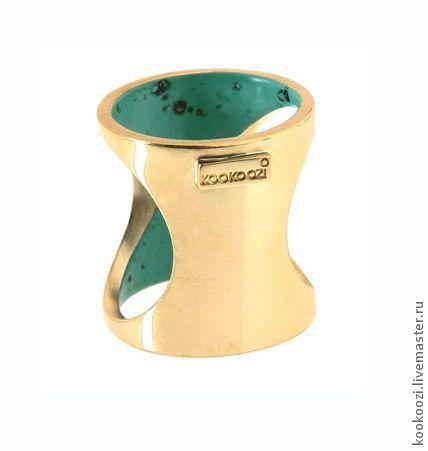 """Кольца ручной работы. Ярмарка Мастеров - ручная работа. Купить Кольцо """"TRUBADUR1"""". Handmade. Латунь, техно, латунь"""