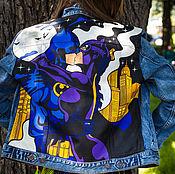 Одежда ручной работы. Ярмарка Мастеров - ручная работа Поп-арт роспись джинсовых курток. Handmade.