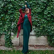 Одежда ручной работы. Ярмарка Мастеров - ручная работа Шерстяное платье-водолазка, изумрудное. Handmade.
